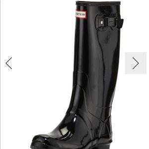 Hunter huntress gloss boot size 39
